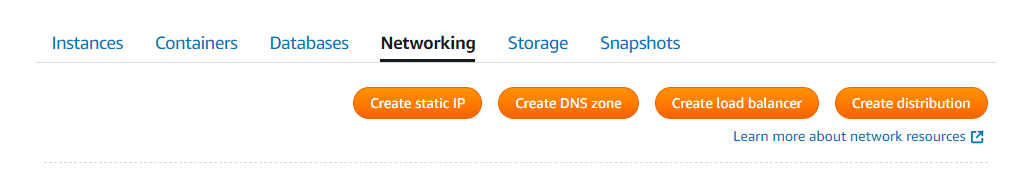 AWS Lightsail Networking Resources