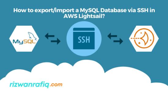Export/Import a MySQL database